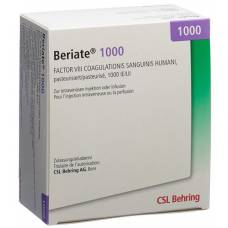 Beriate trockensub 1000 iu with solvent and administration set durchstf