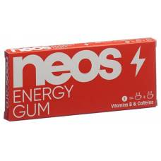 Neos energy gum 100 mg of caffeine 8 pcs