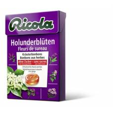Ricola elderflower herbal sweets without sugar 50g box
