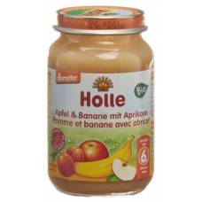 Holle apple & banana with apricot demeter bio 190 g