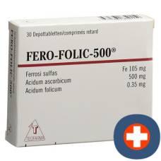 Fero folic 500 depottabl 500 mg 30 pcs