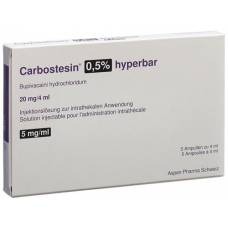 Carbostesin hyperbar inj lös 0.5% 5 ml amp 4