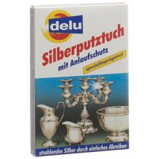 Delu silver cleaning cloth with tarnish protection