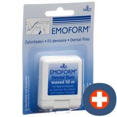 Emoform dental floss waxed 50m