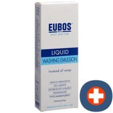 Eubos soap liq unscented blue dispenser 400 ml
