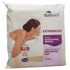 Duniwell once washcloth sensitive 50 pcs