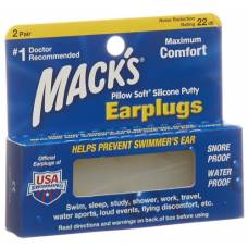 Mack earplugs transparent 2 pairs