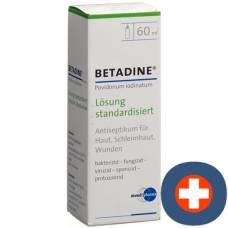 Betadine solution standardized lös fl 60 ml