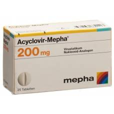 Acyclovir 200 mg tbl mepha 25 pcs