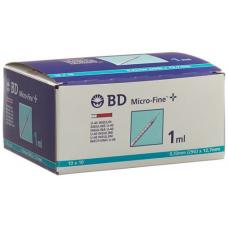 Bd microfine + u40 insulin syringe 100 x 1 ml
