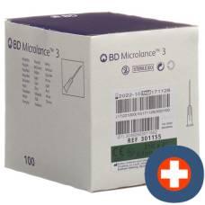 Bd micro lance 3 injection needle 0.80x50mm green 100 pcs