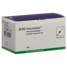 Vacutainer cannula 21g 0.8x38mm green 100 pcs