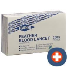 Feather blood lancet sterile 200 pcs
