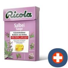 Ricola sage herbal sweets without sugar 50g box