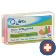 Quies noise ear protectors foam balls 6 pcs
