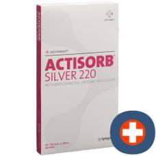 Actisorb silver 220 coal association 19x10.5cm 10 pcs