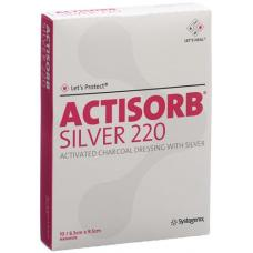 Actisorb silver 220 coal association 9.5x6.5cm 10 pcs