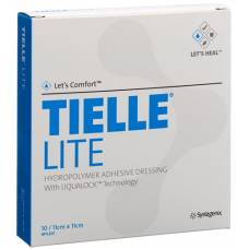 Tielle lite foam dressing with ema film 11x11cm 10 btl