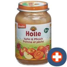Holle organic apple & peach demeter 190 g