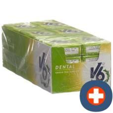 V6 dental care gum green tea jasmine 24 box