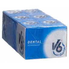 V6 dental care gum peppermint box 24