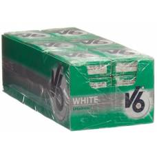 V6 white chewing gum spearmint 24 box