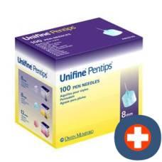 Unifine pentips pen needles 8mm 100 pcs