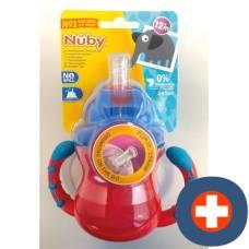 Nuby trinkhalmtasse flip-it grip with handles
