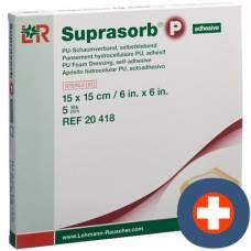 Suprasorb P foam dressing 15x15cm adhesive 5 pcs
