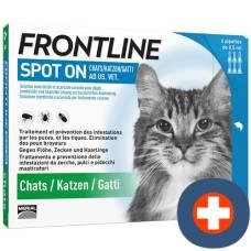 Frontline spot on cat list d 6 x 0.5 ml
