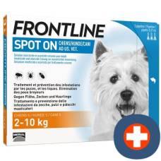 Frontline spot on dog s list d 3 x 0.67 ml