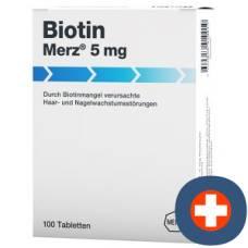 Biotin 5 mg tbl merz 100 pcs