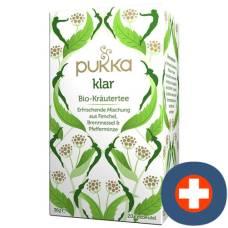 Pukka tea bio clear btl 20 pcs