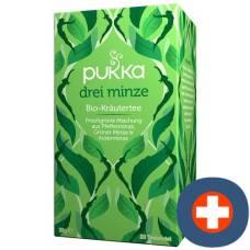 Pukka three mint tea organic btl 20 pcs