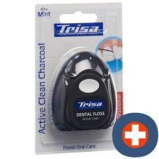 Trisa dental floss active clean charcoal