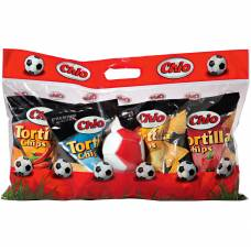 Chio tortilla chips with a ball 4 varieties