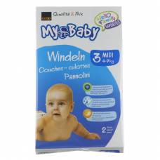 My baby 3 midi diapers 4-9kg 2 pieces